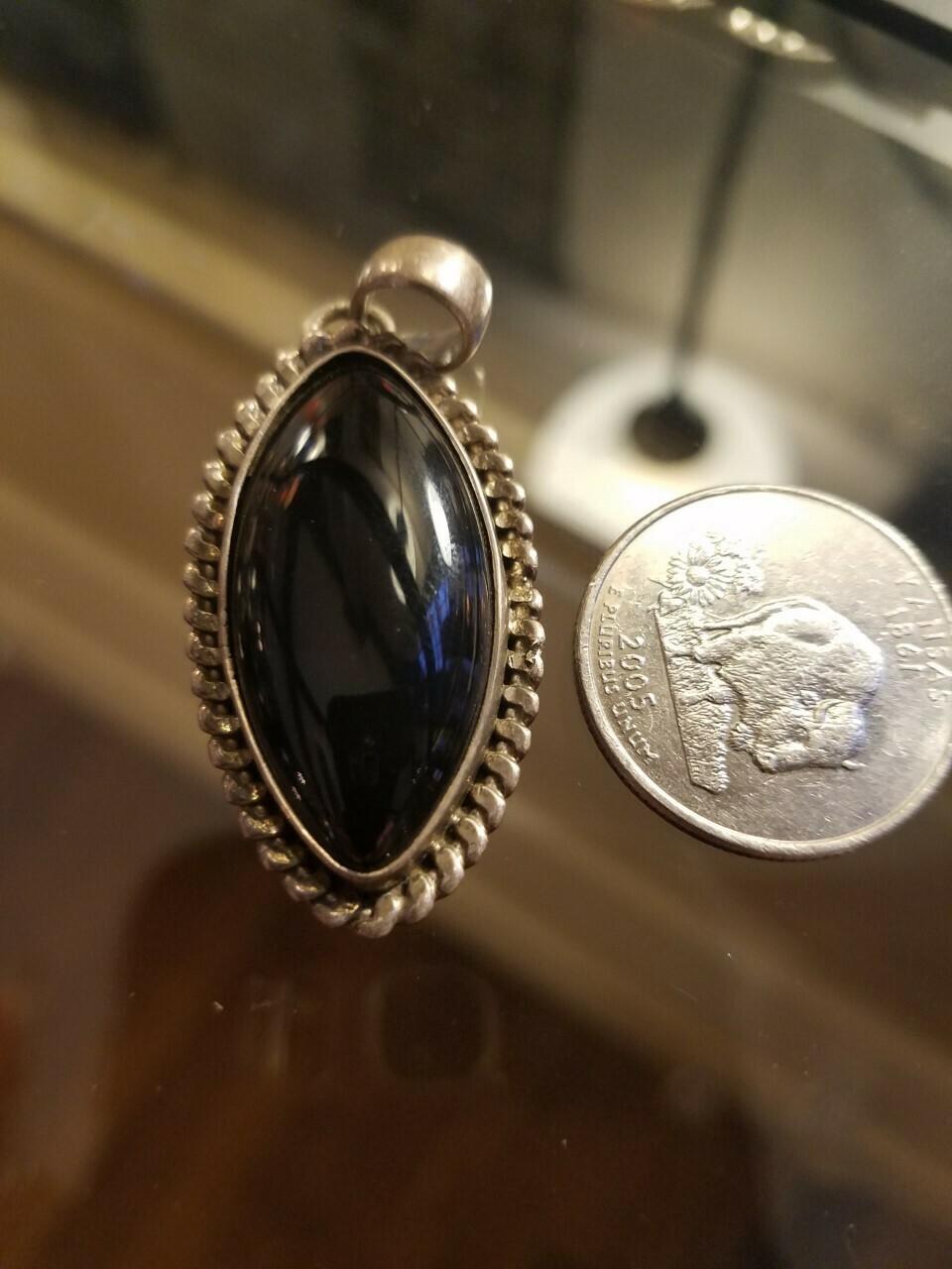 Black Onyx Pendant -India