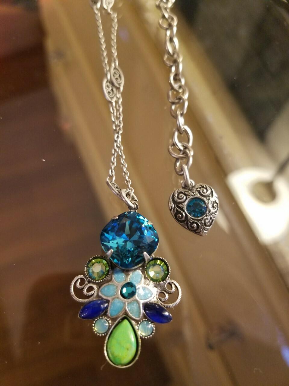 Bejeweled Floral Necklace