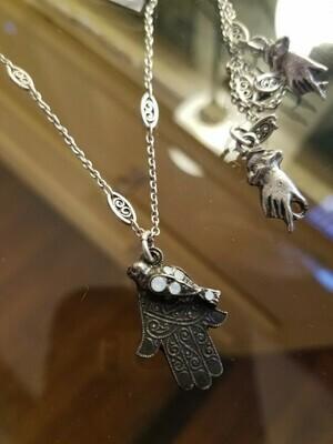 Hamsa & Crystal Necklace