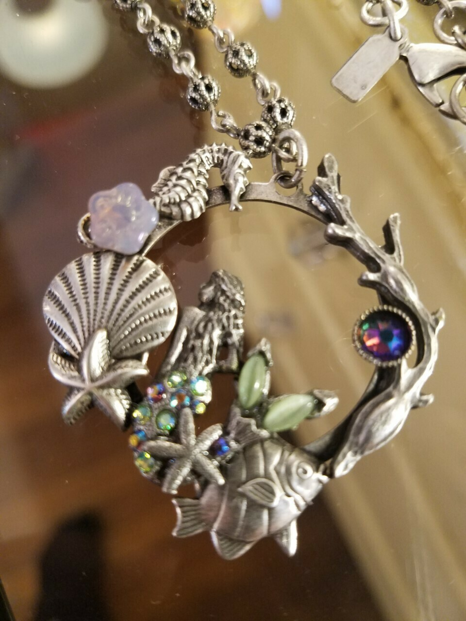 Mermaid Pewter Ocean themed Necklace