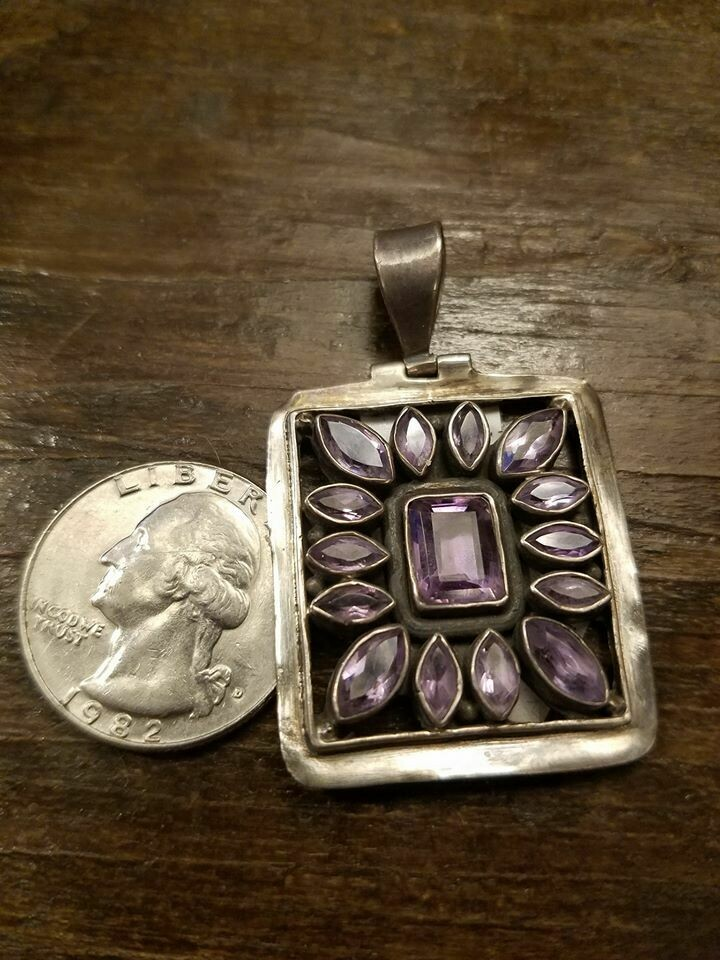 Amethyst & Sterling Pendant from India