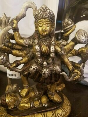 Goddess Kali Brass Statue -India