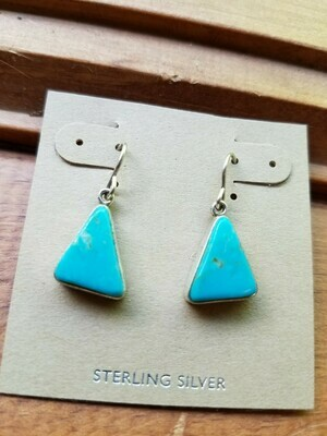 Turquoise Sterling Earrings-New Mexico