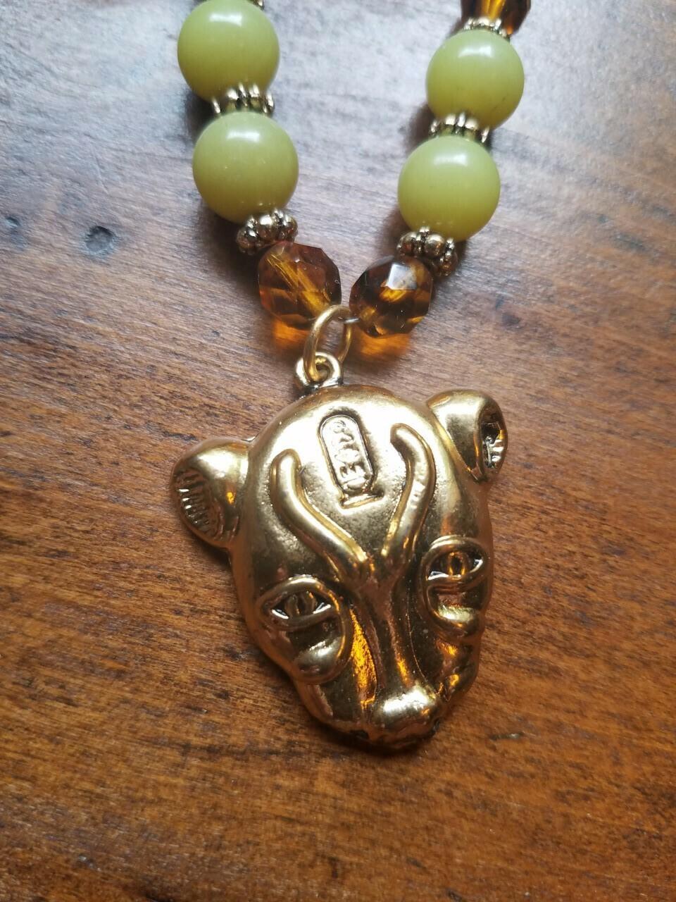 Bastet Beaded Necklace