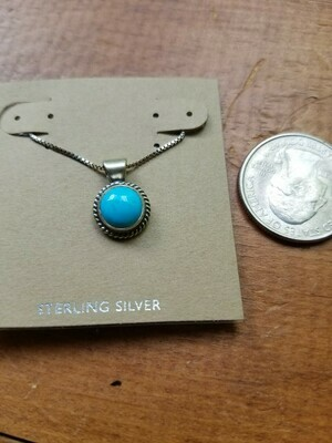 Turquoise & Sterling Pendant -New Mexico