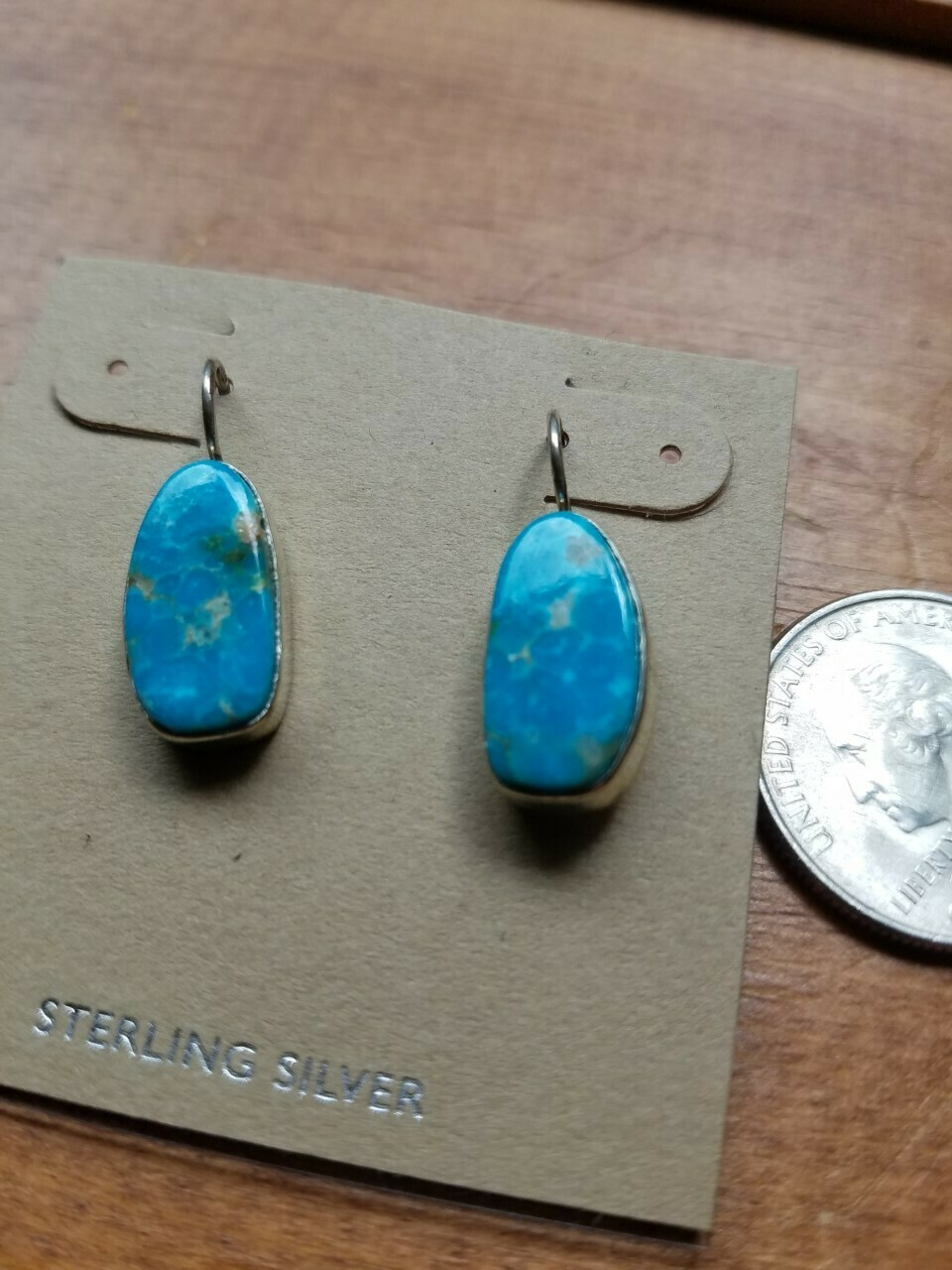Turquoise & Sterling Earrings- New Mexico