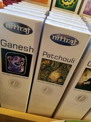 Nitiraj Incense -one pkg each of Ganesh & Patchouli