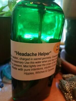 Moon Water- Headache Helper 4 oz