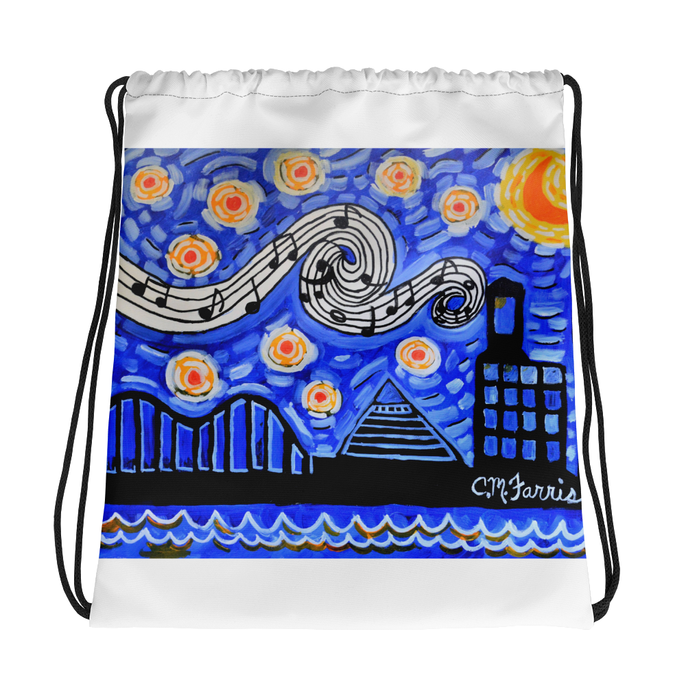 Memphis NIghts Drawstring bag
