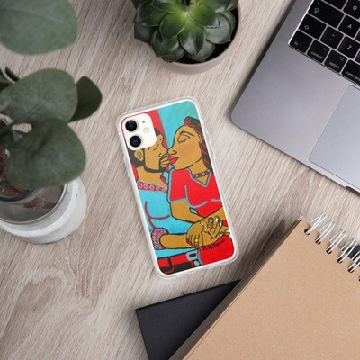 Lovers Embrace iPhone Case