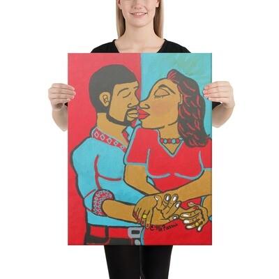 Lovers Embrace 18X24 Canvas Print