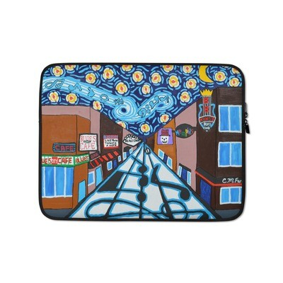 Memphis Nights on Beale Street Laptop Sleeve