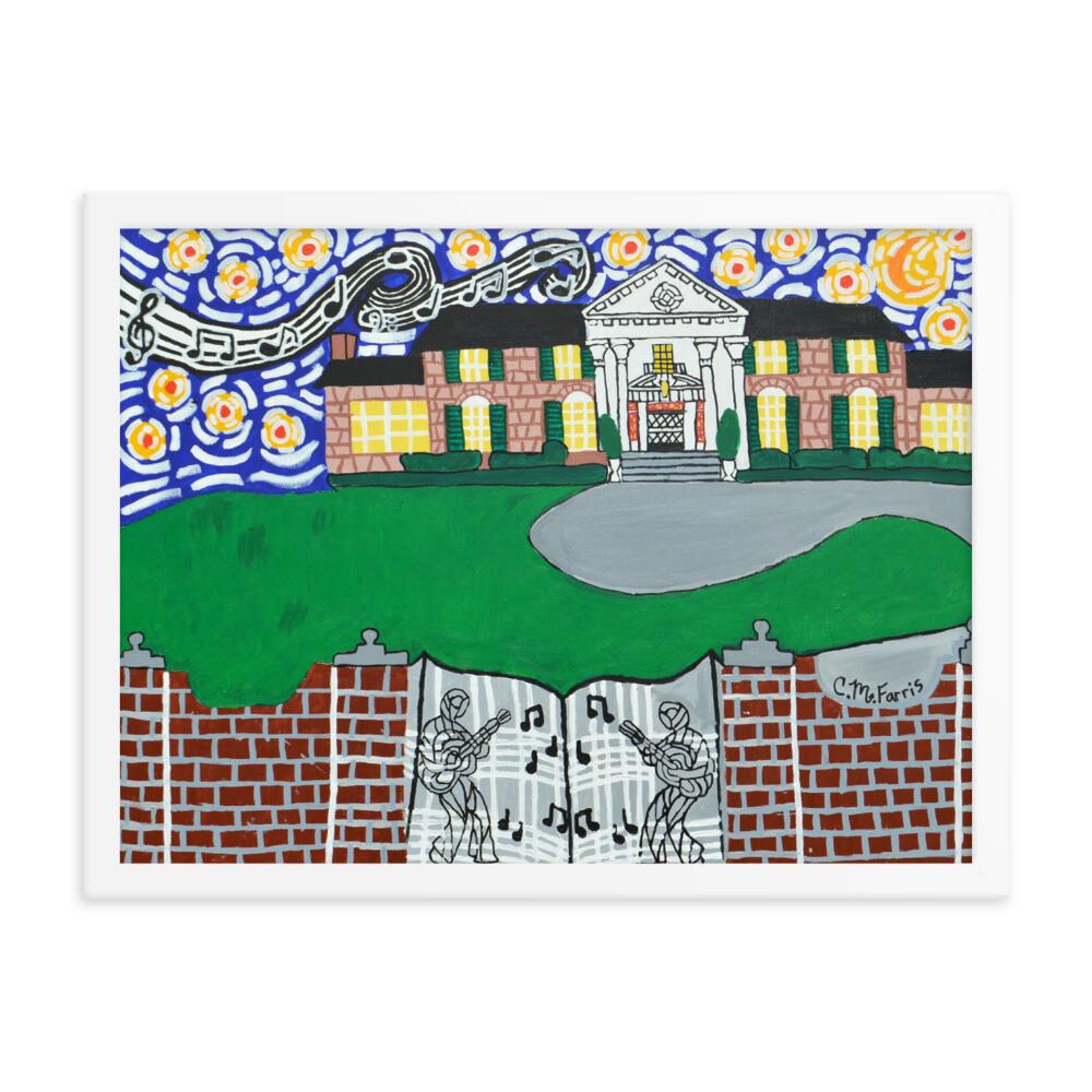 Memphis Nights over Graceland 18X24 Framed Print