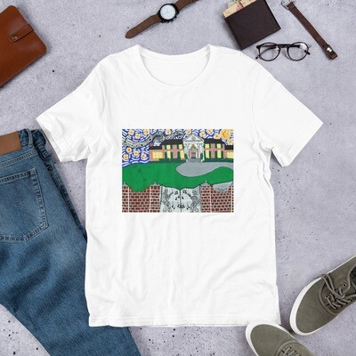 Memphis Nights over Graceland Short-Sleeve Unisex T-Shirt