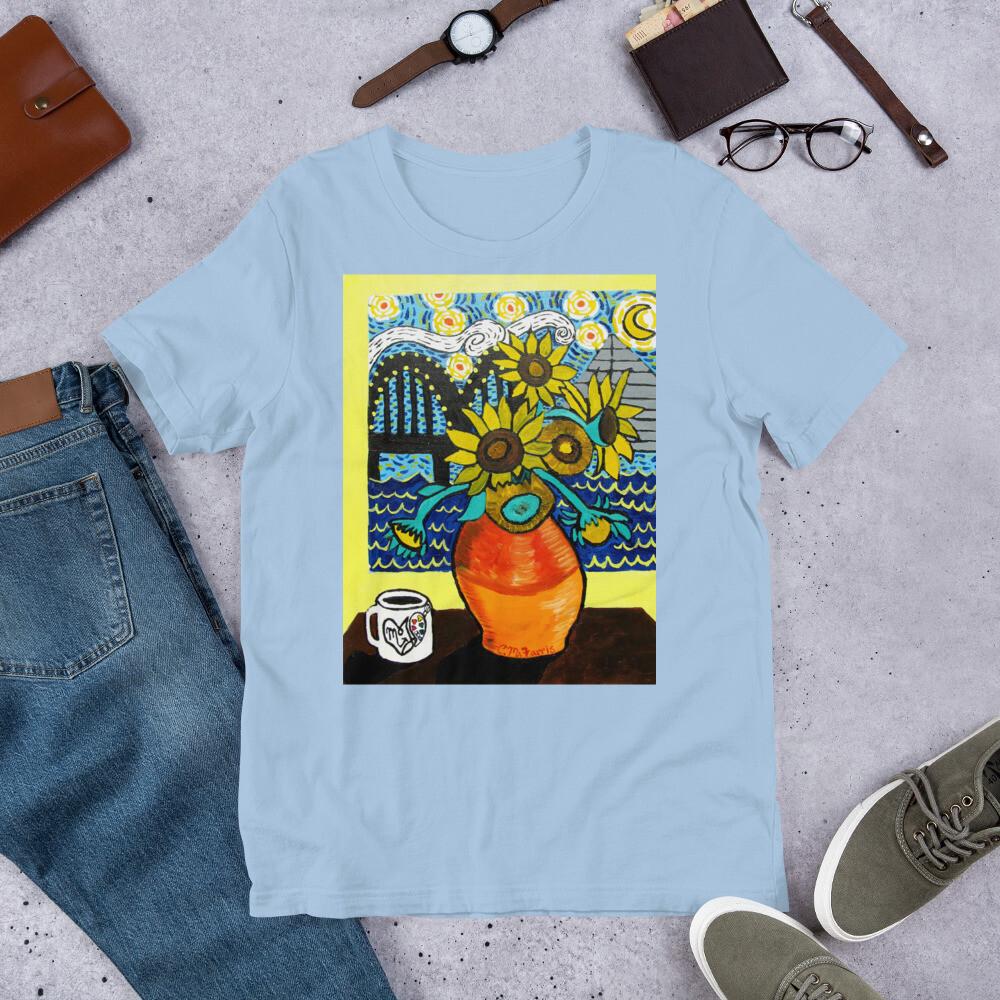 Sunflowers under Memphis Nights Short-Sleeve Unisex T-Shirt