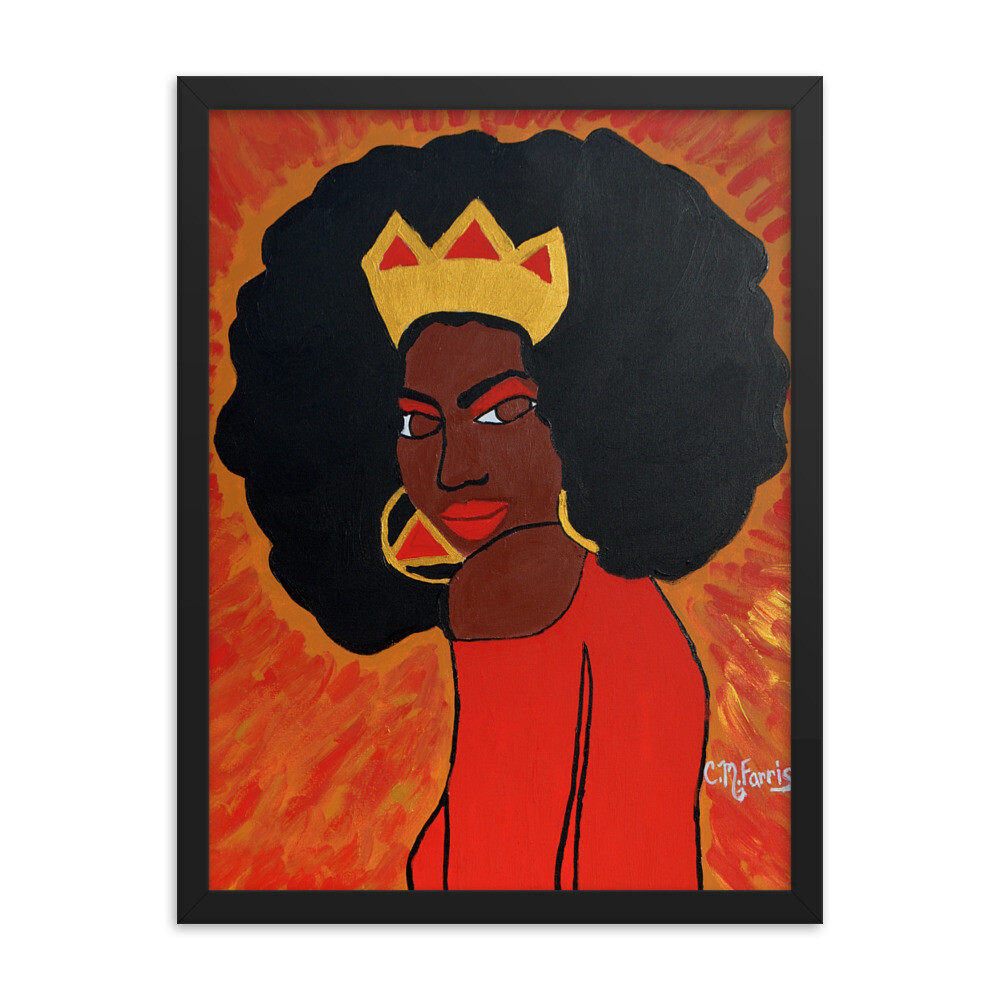 Fierce Queen 18X24 Framed Print