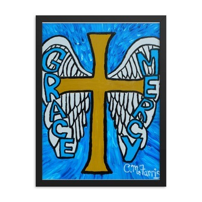 Grace and Mercy Framed Print