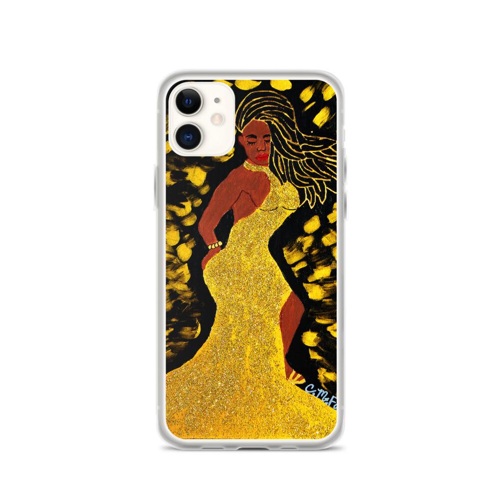 Golden Goddess iPhone Case