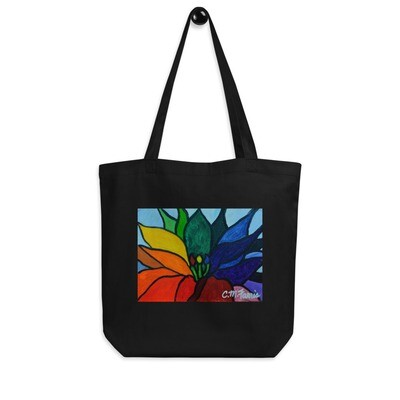 Rainbow Lotus Flower Eco Tote Bag