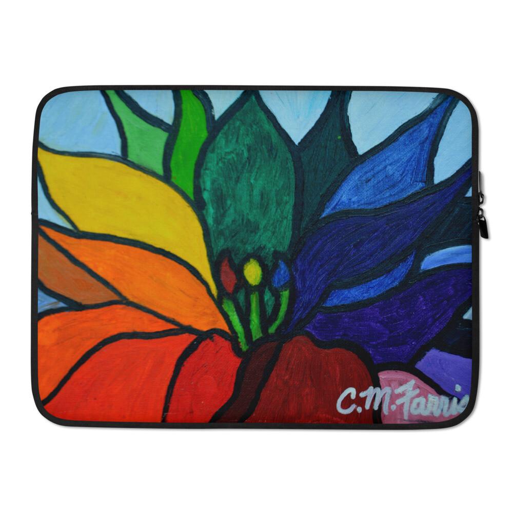 Rainbow Lotus Flower Laptop Sleeve