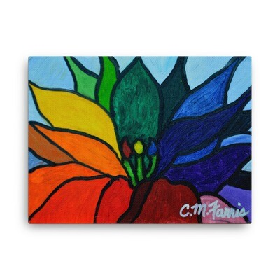 Rainbow Lotus Flower Canvas Print