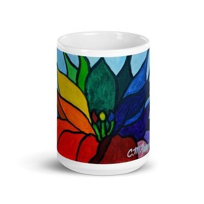 Rainbow Lotus Flower Mug