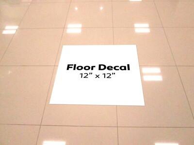 Vinyl Floor Decals -10 Pack