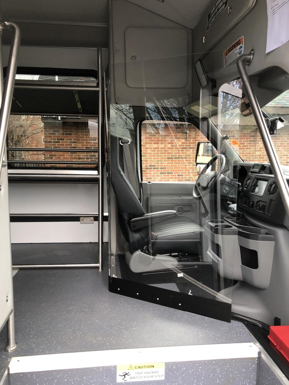 """1/4"""" Polycarbonate Bus Driver Sneeze Shield"""