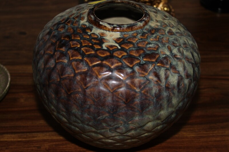 OL-Bluish Gray Vase-No maker's marks