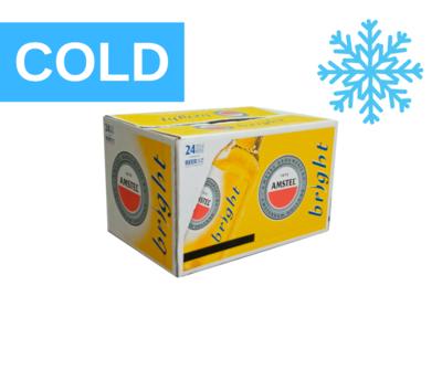 Amstel Bright COLD, 24 Pack, 27.5cl. Bottles