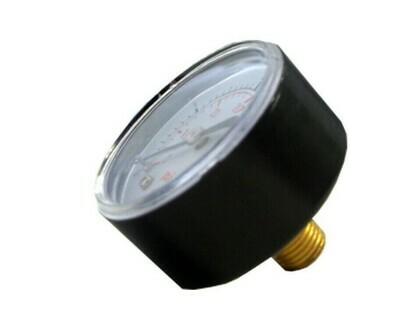 Pressure Gauge 0-60 PSI Back Thread
