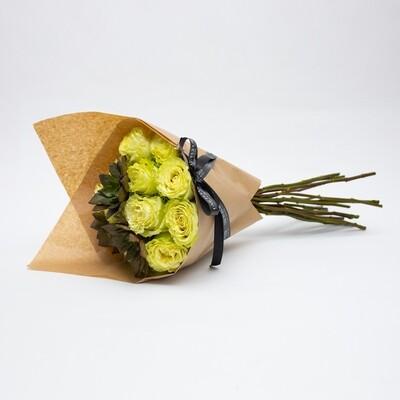CITRON Bouquet com 12 rosas colombianas e suculentas