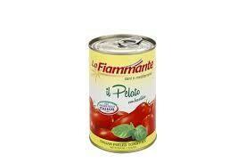 La Fiammante Peeled tomatoes with basil 400g