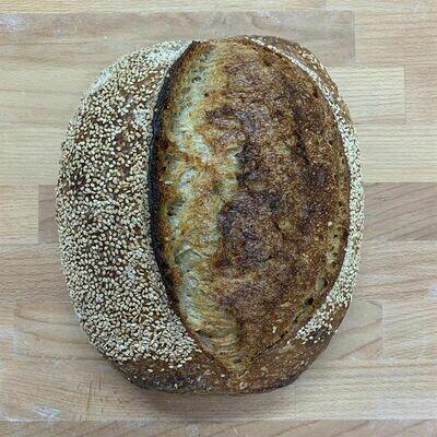 Toasted Seasme Sourdough