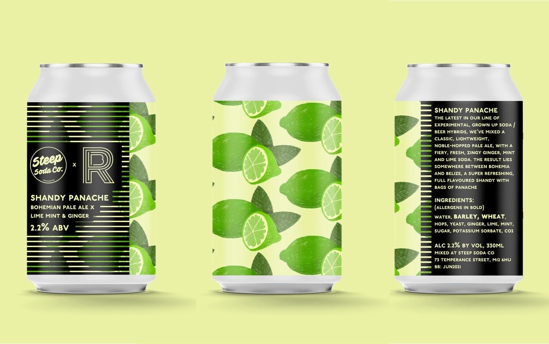 Steep Soda Shandy Panache (Bohemian Pale x Lime, Ginger & Mint) 2.2%