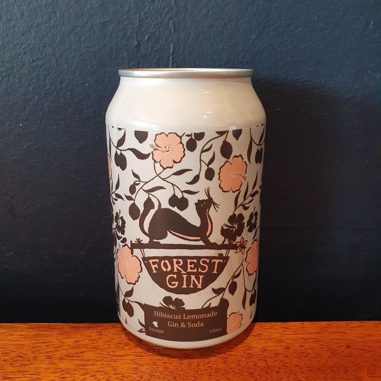 Forest Gin x Steep Soda / Hibiscus Lemonade Gin & Soda 5% (330ml)