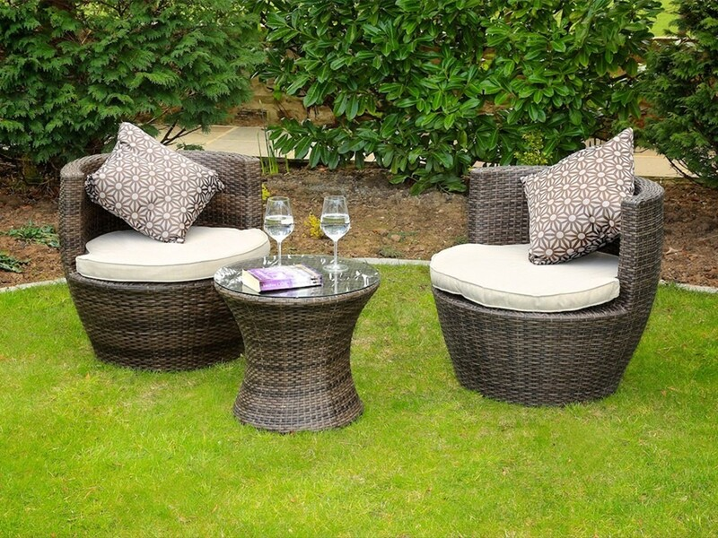Madellaine 3 Piece Rattan Conversation Set with Cushions