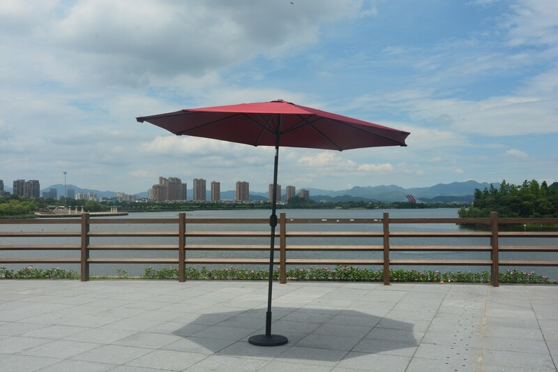 Upright Umbrella with Weighted Stand