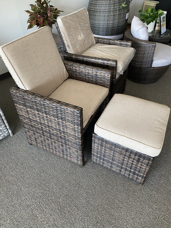 Wick's Flip Up Chairs with Ottoman