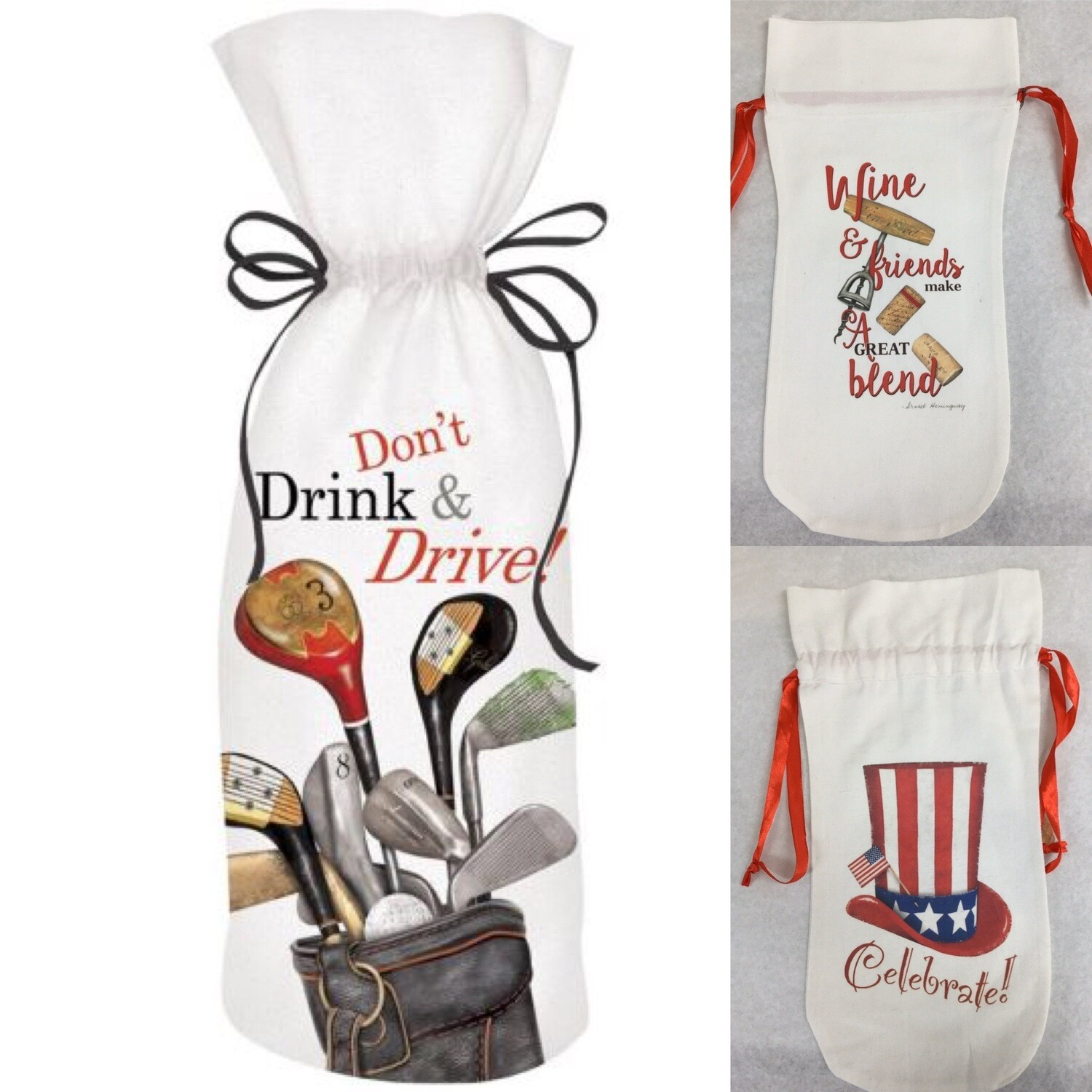 Transport your Beverage in Style -Fun Wine Bags
