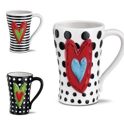 Heartful Mug - Enjoy a Cup of Love