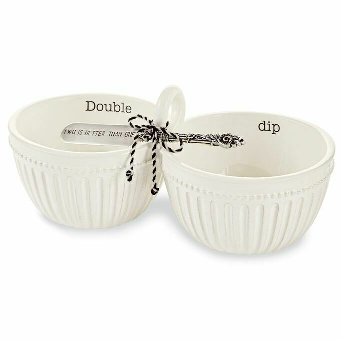 Double Dip Bowls with Spreader Set