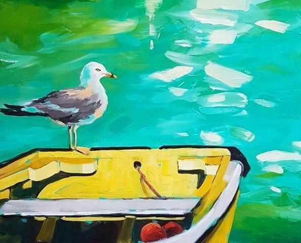 Yellow Boat 16x20