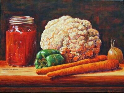 Country Cooking, 12x16