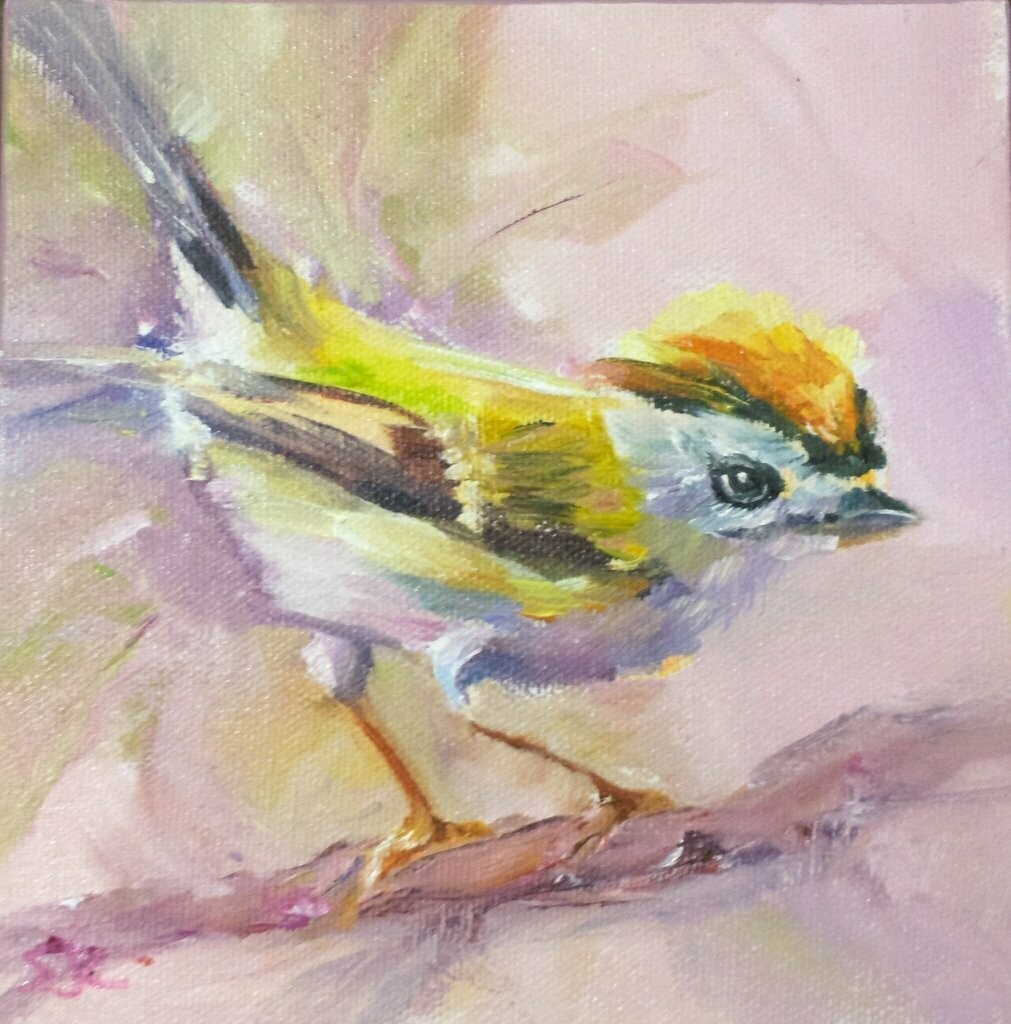 "Yes, M'Lady, Kinglet 6""x6"""