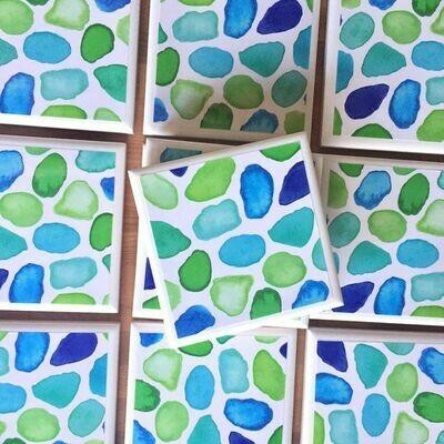 Seaglass Coaster Set 4