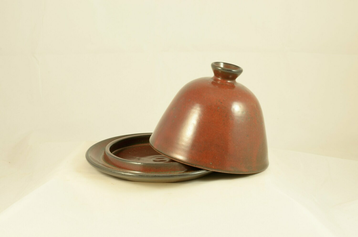 Iron Red Butter Dish