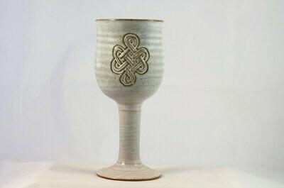 Wine Goblet Celtic White
