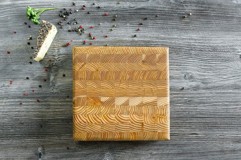 Larch Wood Canada Square Cheese Board