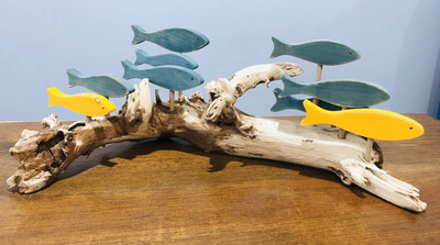 Jerry Walsh 9 Fish on Driftwood